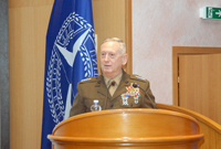 General MATTIS delivers the Eisenhower Lecture to Senior Course 120