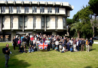 Senior Course 120 Walls Walk group photo at the British Embassy gardens, Rome