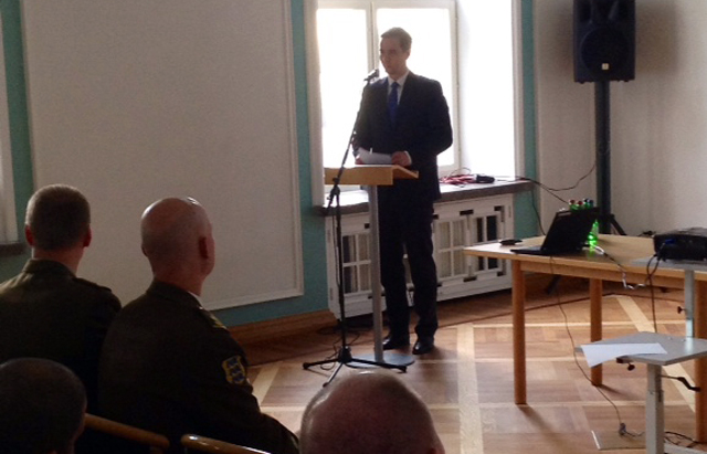 The Permanent Secretary of the Estonian Ministry of Defence, Mr Mikk MARRAN, welcomes SC 124.