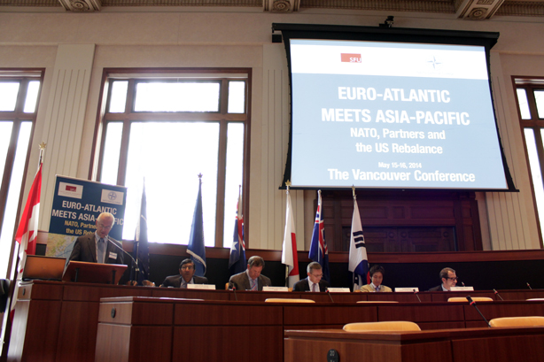 "Leading scholars during Panel 3 on ""The Future of Asia-Pacific Security and Implications for the Euro-Atlantic Area"""