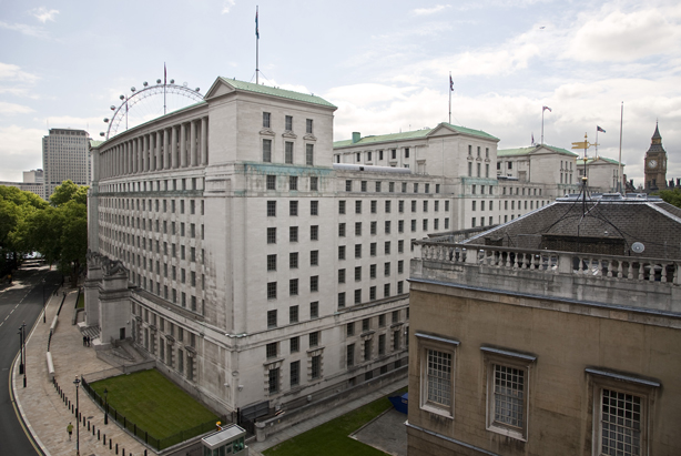 Ministry of Defence (MoD) Main Building in Whitehall, London. (Photo courtesy of the UK MoD at http://www.defenceimagery.mod.uk/)