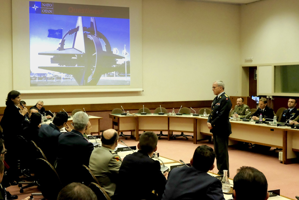 CMC Gen Knud BARTELS during the Q&A session