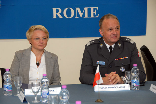 The Polish Under-Secretary of State for Defence H.E. Beata Oczkowicz with NDC Commandant Maj. Gen. Janusz Bojarski