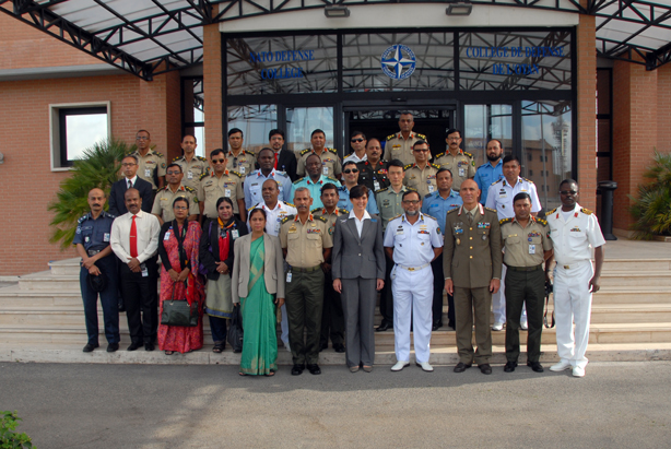 Group photo of the National Defence College of Bangladesh, with NDC Dean Dr Daniels Skodnik (centre)