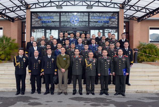 Turkish Joint Command and Staff College Delegation group photo at the NDC