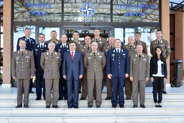 Delegation from the Hungarian General Staff Course headed by General Dr Szenes Zoltán with NDC Hungarian Senior National Representative Colonel Szabolcs Peter Till