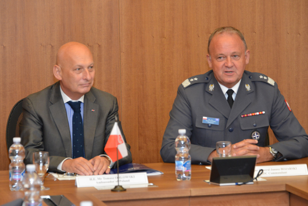 The Ambassador of the Republic of Poland to Italy H.E. Tomasz Orłowski, with NDC Commandant Major General Janusz Bojarski