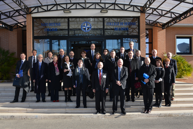 Participants to the Roundtable on Ukraine, Russia and the neighbourhood, at the NATO Defense College