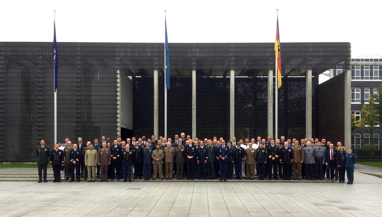 Senior Course 127 in front of the Bundeswehr Memorial