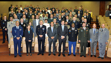 Official group photo at the National Defense Institute