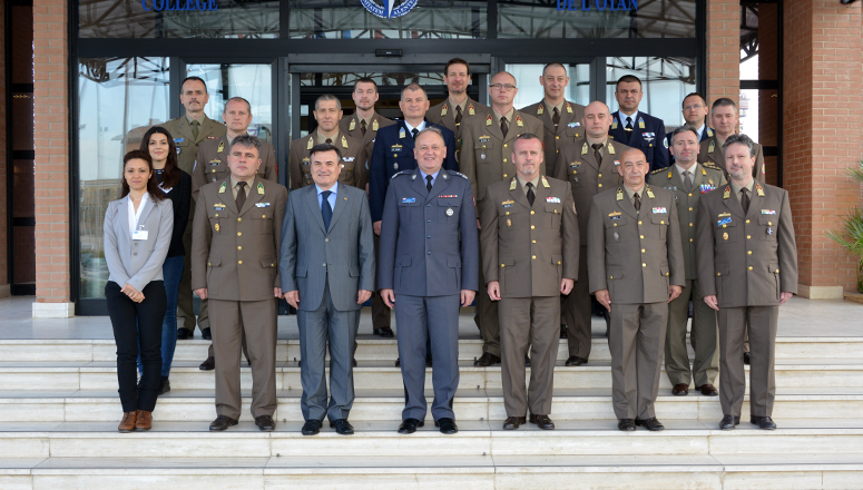 Hungarian General Staff Course Delegation group photo at the NDC