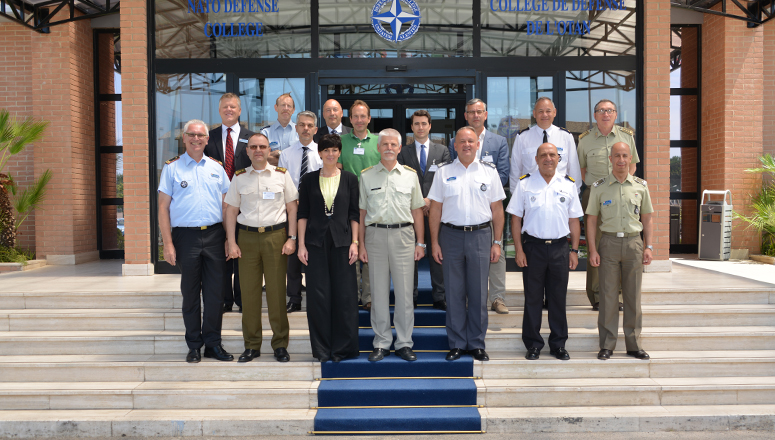 Participants to the 46th NDC Academic Advisory Board meeting at the NATO Defense College