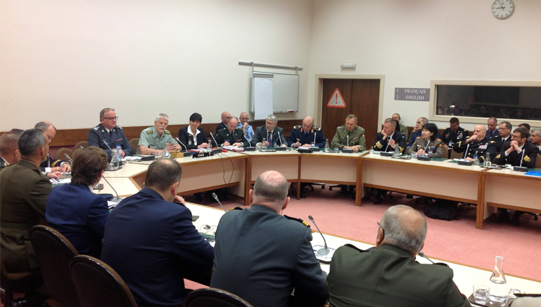 Gen Petr Pavel, Chairman of the Military Committee, responds to questions from Course Members of SC 128 at NATO Headquarters, 11 May 2016