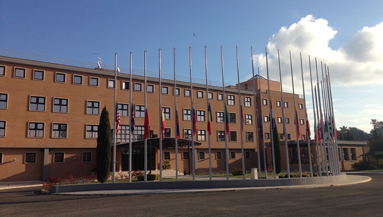 Flags at the NDC at half-mast in solidarity with Turkey