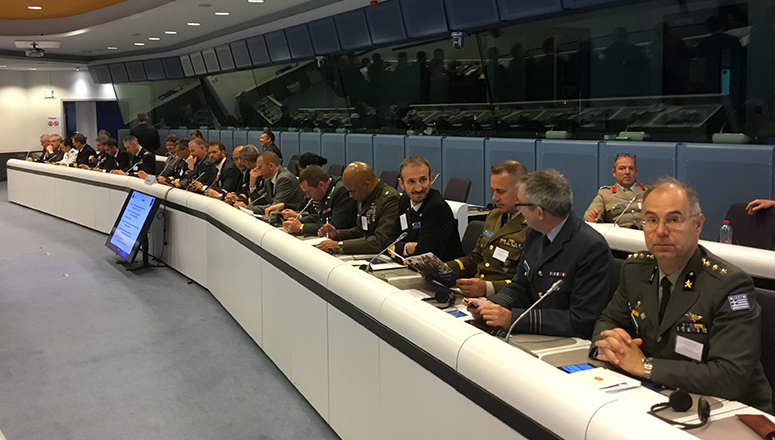 Course Members in the Charlemagne Facility of the European Union