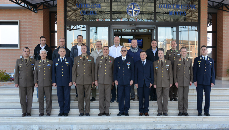 Hungarian General Staff Course delegation led by Prof. General (ret.) Zoltán Szenes at the NATO Defense College