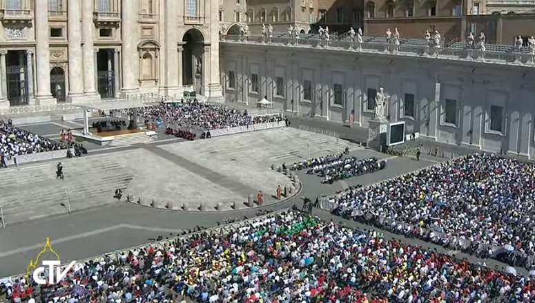 General Audience with His Holiness Pope Francis in Saint Peter's Square (photo courtesy of Centro Televisivo Vaticano)