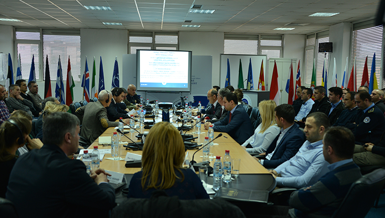 Participants gather for the lectures at the Kosovo Academy of Public Safety.