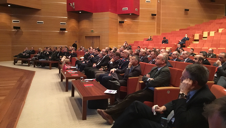 Course Members in the facilities of the Turkish National Defence University (Atatürk Auditorium)