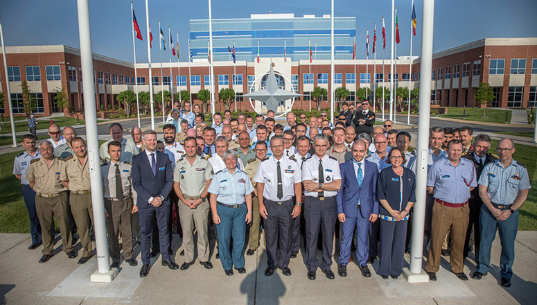 SC 132 at Headquarters Supreme Allied Command Transformation. (Photo courtesy of ACT PAO)