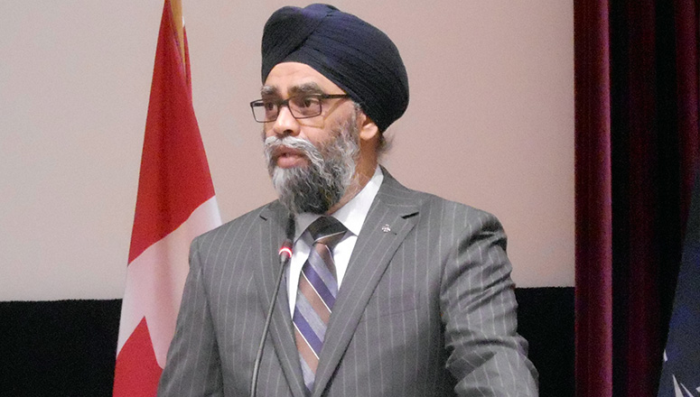 The Honourable Harjit Singh Sajjan, Member of Parliament and Canadian Minister of National Defence, during his address to SC 132.