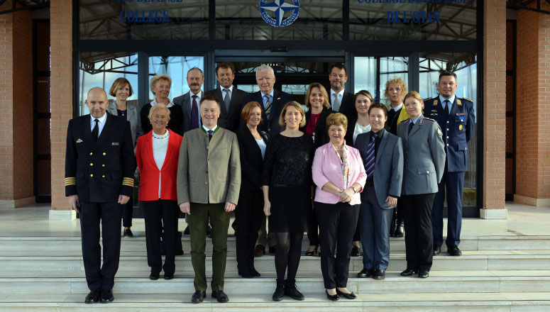 Members of the Foreign and Security Policy Working Group of the Christian Social Union - Bad Reichenhall , at the NATO Defense College