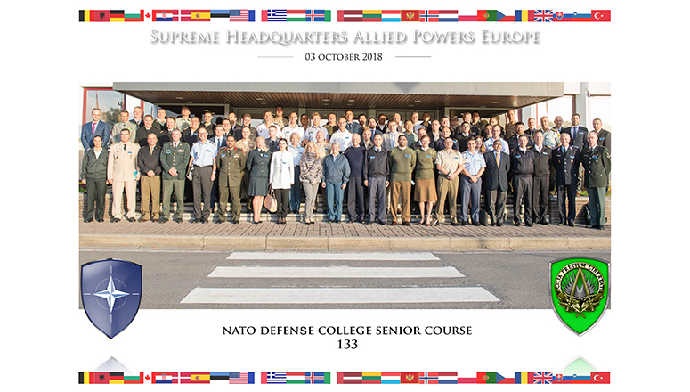 Senior Course 133 at Supreme Allied Headquarters Powers Europe (SHAPE)