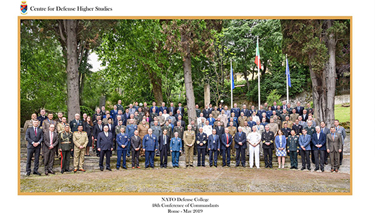 Participants to the 48th Conference of Commandants at the Italian Centro Alti Studi per la Difesa (CASD)
