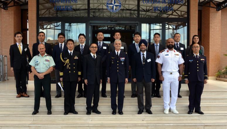 The delegation from the Japanese National Institute for Defence Studies at the NATO Defense College
