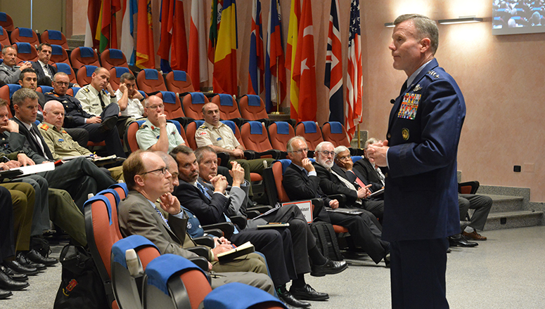 General Tod D. Wolters addresses SC 134, NDC Faculty and Staff