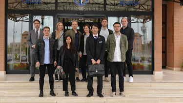 Students from the Society of International Affairs in Gothenburg at the NATO Defense College