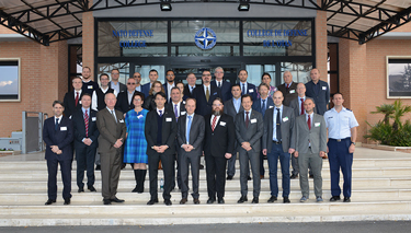 "Participants to the ""Baltics Left of Bang"" table-top exercise at the NATO Defense College"