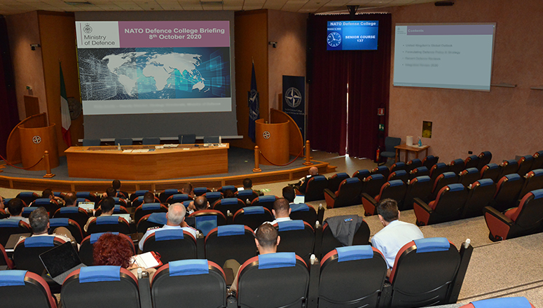 Senior Course 137 in the main Auditorium during the lectures.