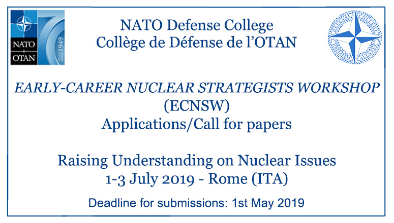 Call for papers: Early-Career Nuclear Strategists Workshop (ECNSW)