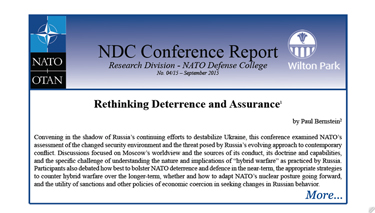Conference Report: Rethinking Deterrence and Assurance
