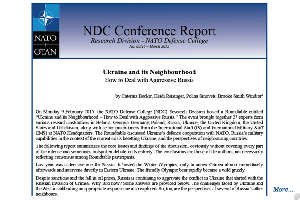 Conference Report: Ukraine and its Neighbourhood - How to Deal with Aggressive Russia