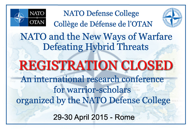 An international research conference for warrior-scholars organized by the NATO Defense College