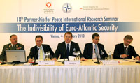 18th PfP International Research Seminar Opening Panel, (photo courtesy of Mr Mahmoud Ashraf; Federal Ministry for European and International Affairs of Austria)