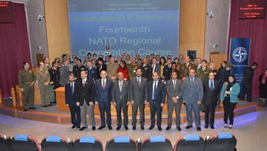 NRCC-14 photo with Ambassadors and distinguished guests, Commandant, Dean, Middle East Faculty and Staff