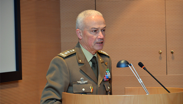 Lieutenant General Giorgio Battisti engages NRCC 14 during a candid Question and Answer session.
