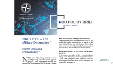 NDC Policy Brief 07-21