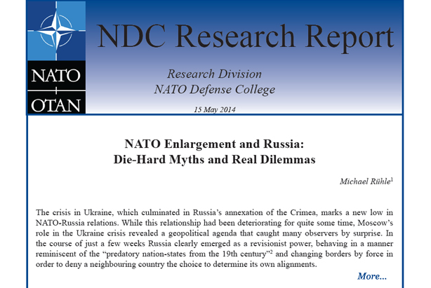 "Research Report: ""NATO Enlargement and Russia: Die-Hard Myths and Real Dilemmas"""
