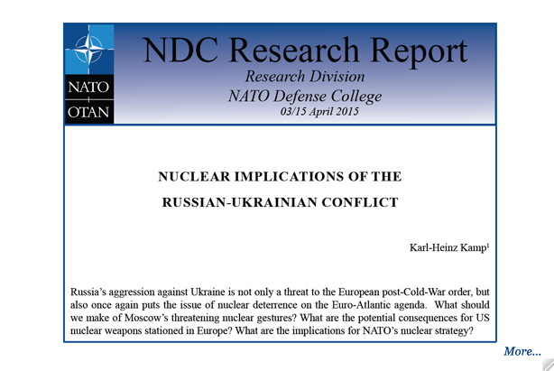 Research Report: Nuclear Implications of the Russian-Ukrainian Conflict