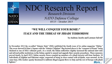 Research Report: �We will conquer your Rome�: Italy and the threat of jihadi terrorism