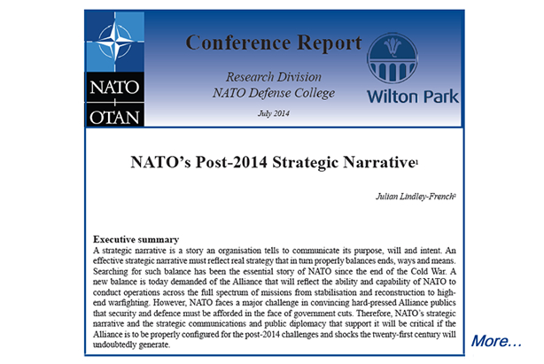 "Research Report: ""NATO's Post-2014 Strategic Narrative"""
