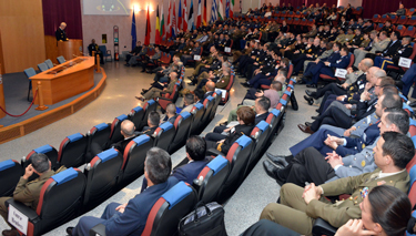 Admiral Nielson delivers  the Inauguration lecture to Senior Course 132 and NATO Regional Cooperation Course 19.