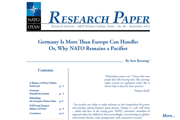 nato research paper The paper analyses the developments regarding the nato agenda in view of the july 2016 warsaw summit it also looks at italy's defence policy with respect to the.